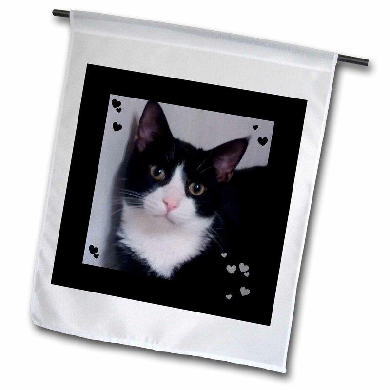 3drose Cute Cat Lovers Tux Cat Closeup Photo Polyester 18 X 12 In Garden Flag Wayfair