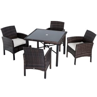 Brett 6 Piece Dining Set with Cushions by Charlton Home