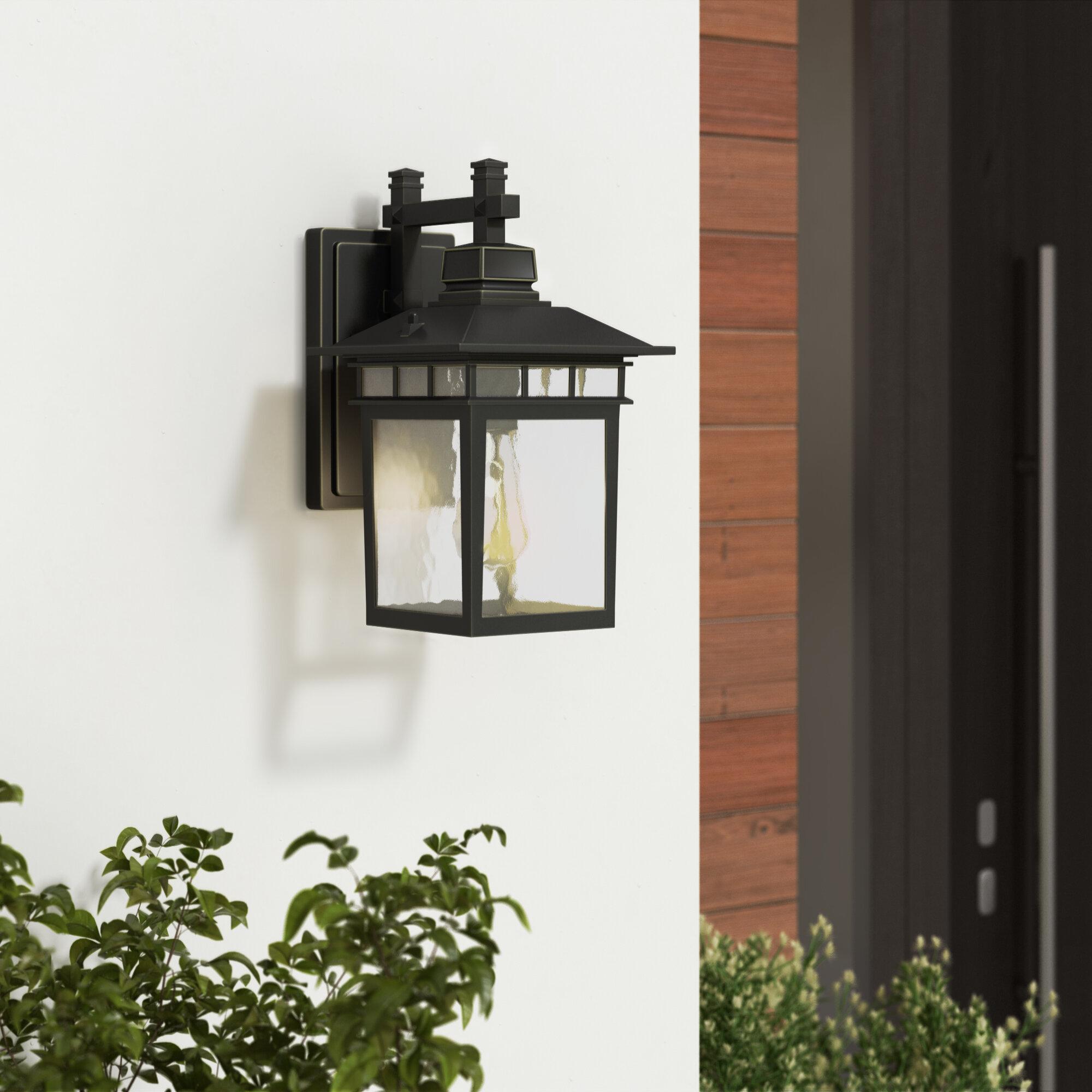 Bloomsbury Market Ousley Imperial Black 1 Bulb Outdoor Wall Lantern Reviews Wayfair