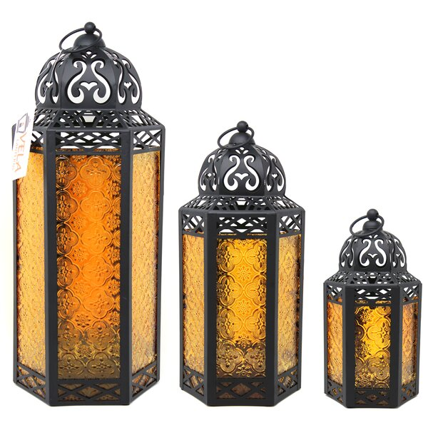 10 White Metal and Clear Glass Moroccan Style Wedding Candle Lanterns NEW