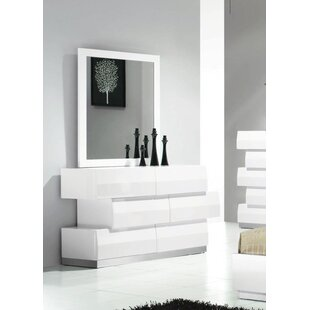 Savings Connolly 3 Drawer Dresser with Mirror by Orren Ellis