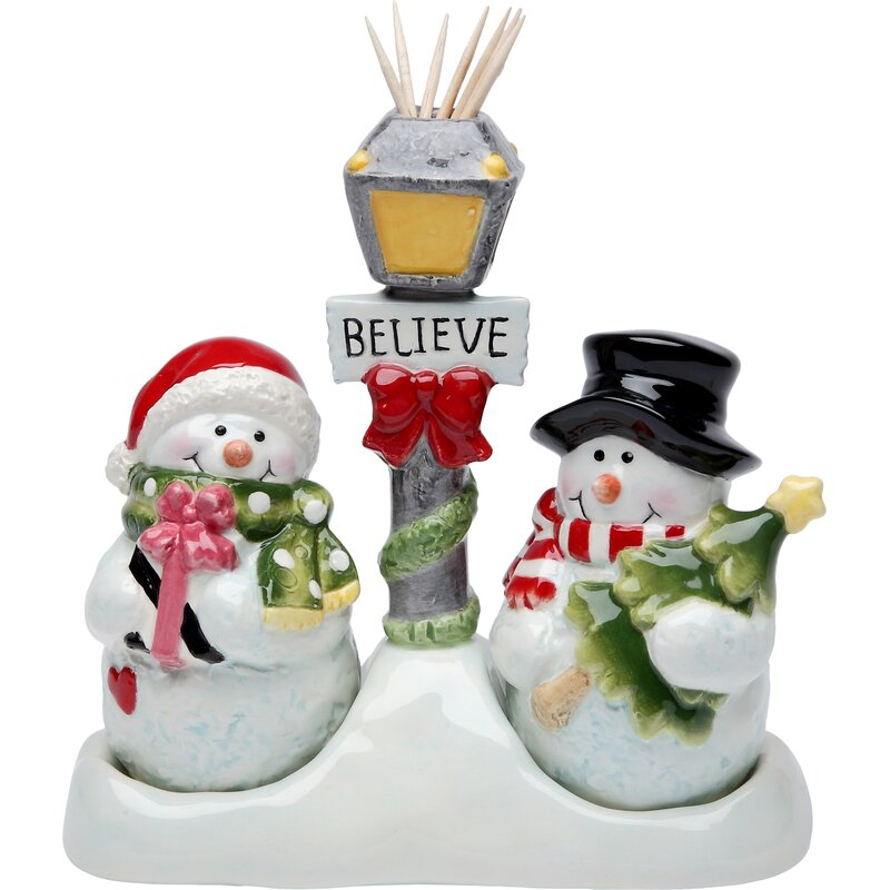 Cosmosgifts Cosmos Gifts Snowman Salt And Pepper Set Toothpick Holder Reviews Wayfair