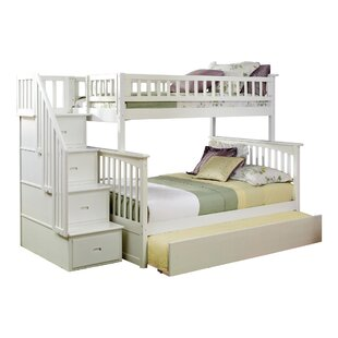 Harriet Bee Abel Staircase Twin Over Full Standard Bed with Trundle