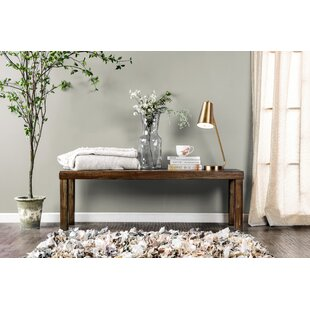 Shelby Wood Bench by Canora Grey