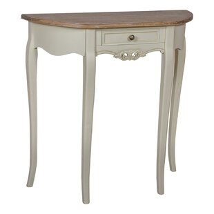 Lanctot 1 Drawer Curved Console Table