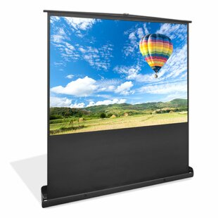 Floor Standing Portable Easy Roll-Up Pull-Out Black 100
