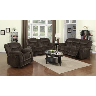 Teddy Bear Reclining 3 Piece Living Room Set Sunset Trading