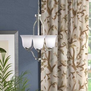 Burhall 3-Light Shaded Chandelier by Darby Home Co