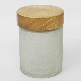 Modern Crackle Glass Storage Jar