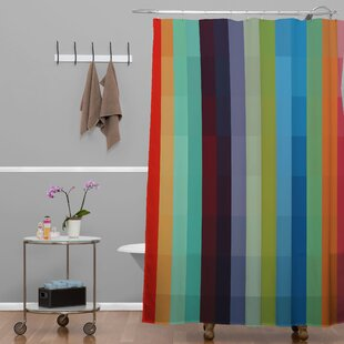 Madart Inc. City Colors Extra Long Shower Curtain by Deny Designs