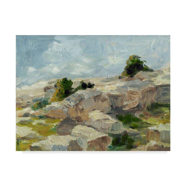Charlton Home Impasto Mountainside I Print On Wrapped Canvas Wayfair
