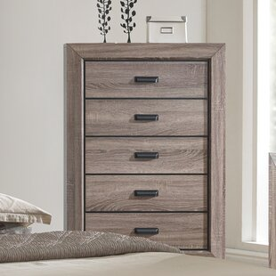 Compare prices Westman 5 Drawer Chest by Gracie Oaks