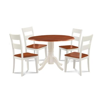 Forthill Wood 5 Piece Solid Wood Dining Set