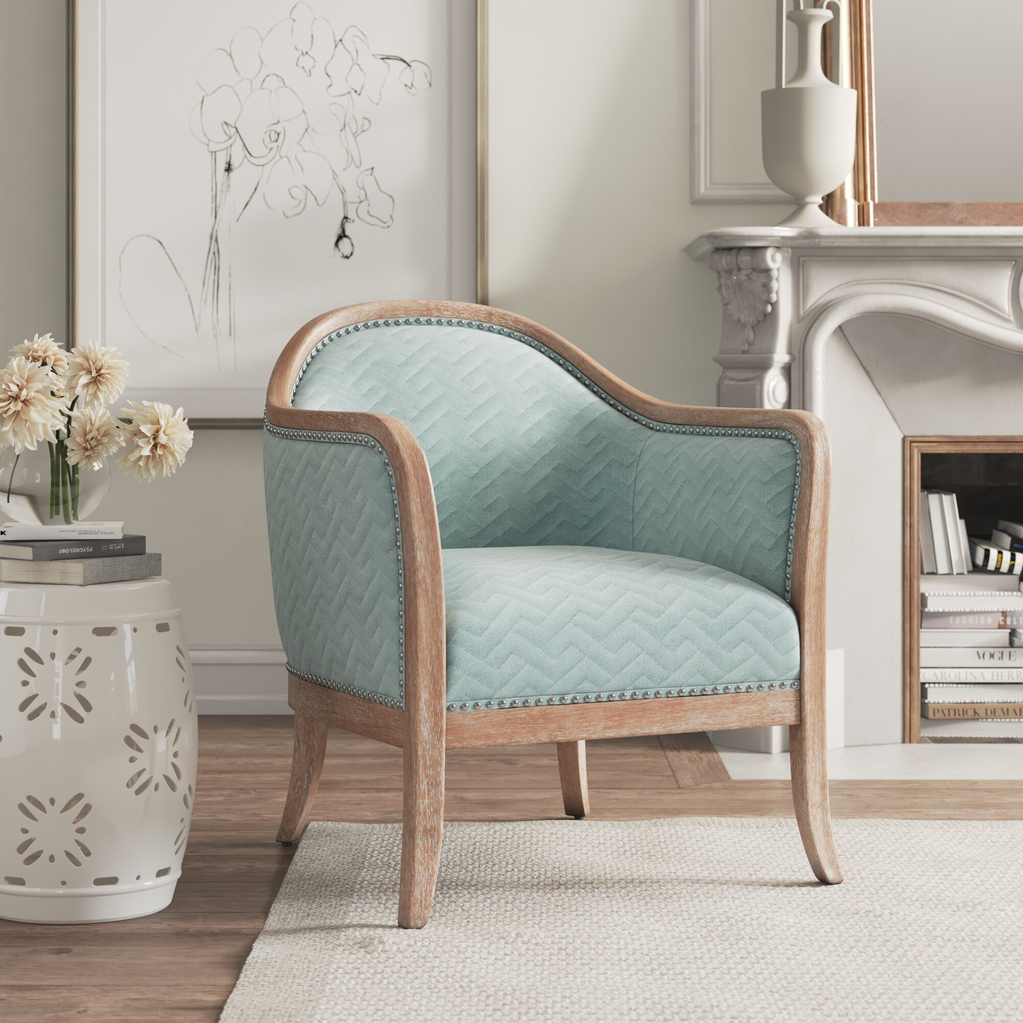 Barrel Light Wood Accent Chairs You Ll Love In 2021 Wayfair