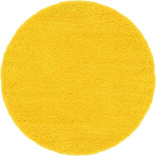Angeline Dark Yellow Area Rug by Turn on the Brights