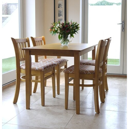 Mererid Dining Set with 4 Chairs Marlow Home Co. Colour