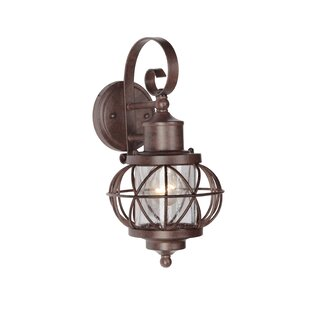 Top Reviews Catt 1-Light Outdoor Wall Lantern By Gracie Oaks