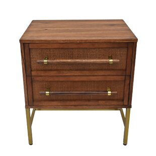 Wrought Studio Eskridge 2 Drawer Nightstand