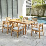 Mcevoy 7 Piece Dining Set with Cushions
