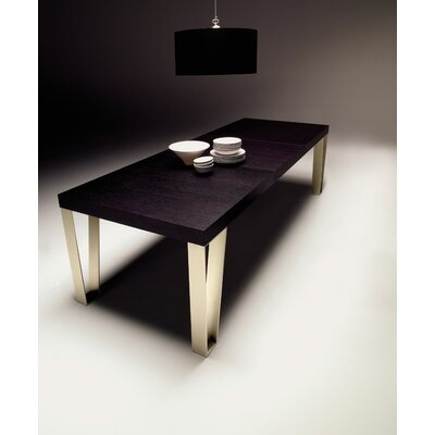 "YumanMod Kyte 29"" Extendable Dining Table  Base Color: Brushed Bronze, Size: 29"" H x 98"" L x 39"" W"