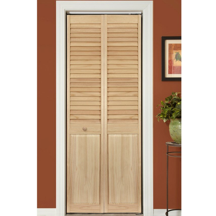 Home Fashion Technologies Solid Wood Louvered Radiata Pine Bi Fold Door Wayfair