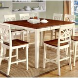 Izayah Counter Height Solid Wood Dining Table by August Grove®