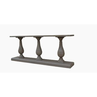 "Frida 60"" Soild Wood Console Table - Grey Wash by One Allium Way SKU:BD803137 Details"