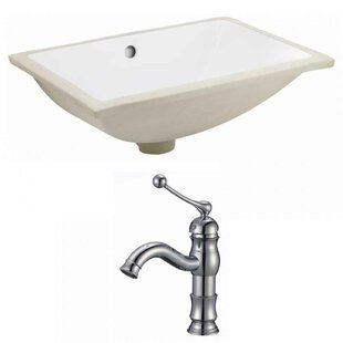 Order CUPC Ceramic Rectangular Undermount Bathroom Sink with Faucet and Overflow ByRoyal Purple Bath Kitchen