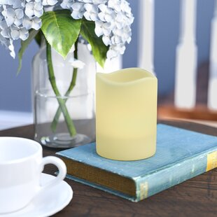 LED Cream Scented Flameless Candle