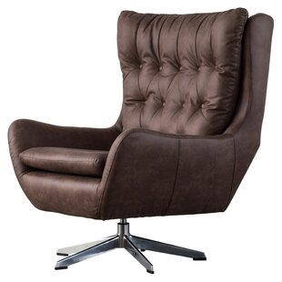 17 Stories Dicken Swivel Wingback Chair