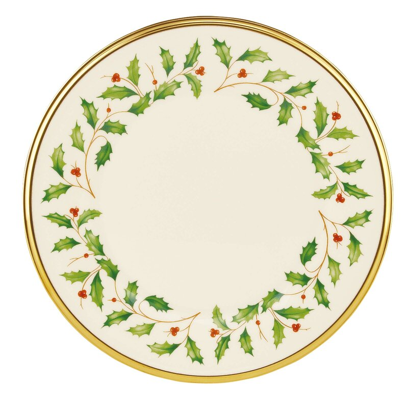 "Holiday 8"" Salad or Dessert Plate"