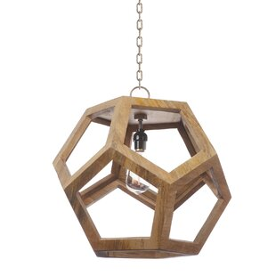 Tressie 1-Light Geometric Pendant by Foundry Select
