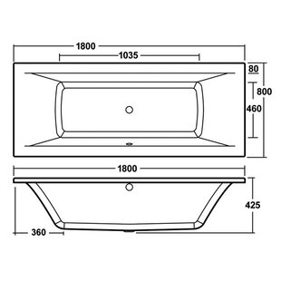 Asselby Eternalite Square Double Ended Standard Soaking Bathtub by Premier