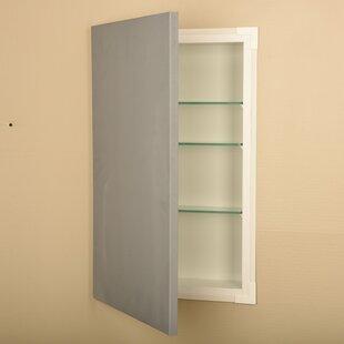 Recessed Framed 1 Door Medicine Cabinet with Adjustable Shelves