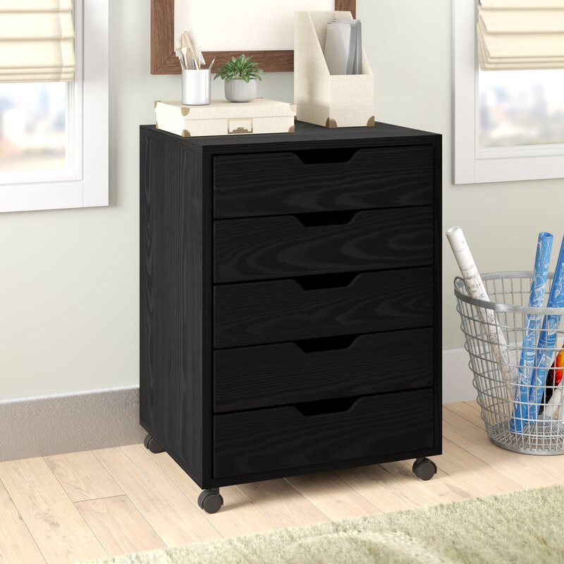 Genial Riley 5 Drawer Halifax Mobile Cabinet