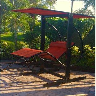 Laguna Fabric Burlap Porch Swing with Stand by DavidFrank