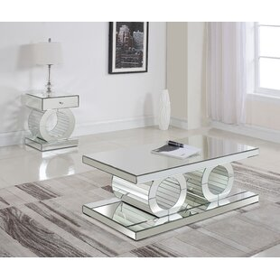 Everly Quinn Matthieu 2 Piece Coffee Table Set