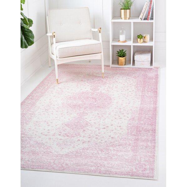 Charlton Home Pat Oriental Pink Area Rug Reviews Wayfair
