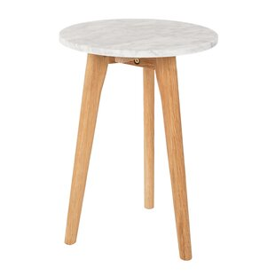 White Stone Side Table ...