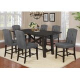 Greggs 7 Piece Counter Height Solid Wood Dining Set by Gracie Oaks