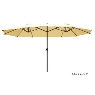 4.6m X 4.6m Rectangular Traditional Parasol By Freeport Park