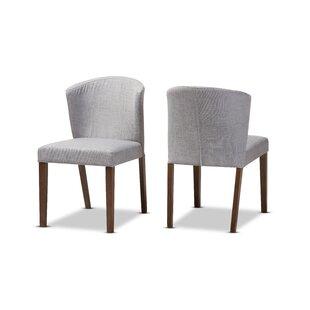 Brayden Studio Stalnaker Mid-Century Modern Upholstered Dining Chair (Set of 2)