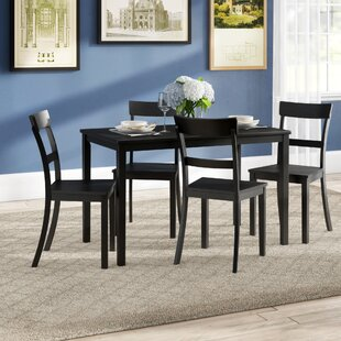 Beacher 5 Piece Dining Set by Winston Porter Spacial Price