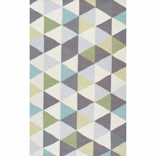 Mercury Row Peasley Hand Hooked Gray/Blue Area Rug & Reviews by Mercury Row