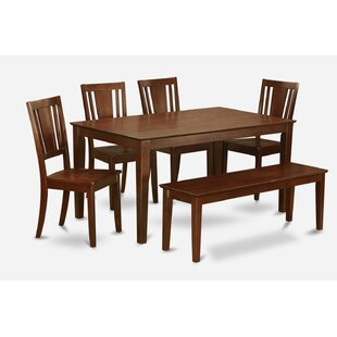 Capri 6 Piece Dining Set by Wooden Importers Comparison