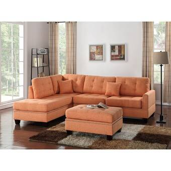 Surprising Alcott Hill Romulus Sectional With Ottoman Reviews Wayfair Gmtry Best Dining Table And Chair Ideas Images Gmtryco