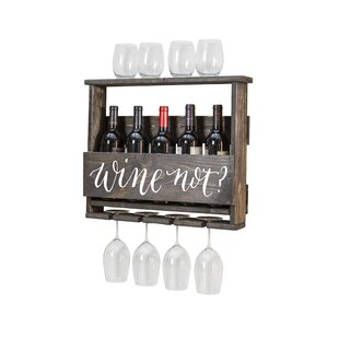 Bernon Wine Not 4 Bottle Wall Mounted Wine Rack