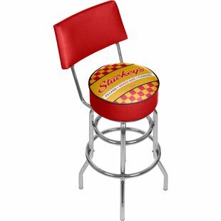 Stuckey's Swivel Bar Stool by Trademark Global