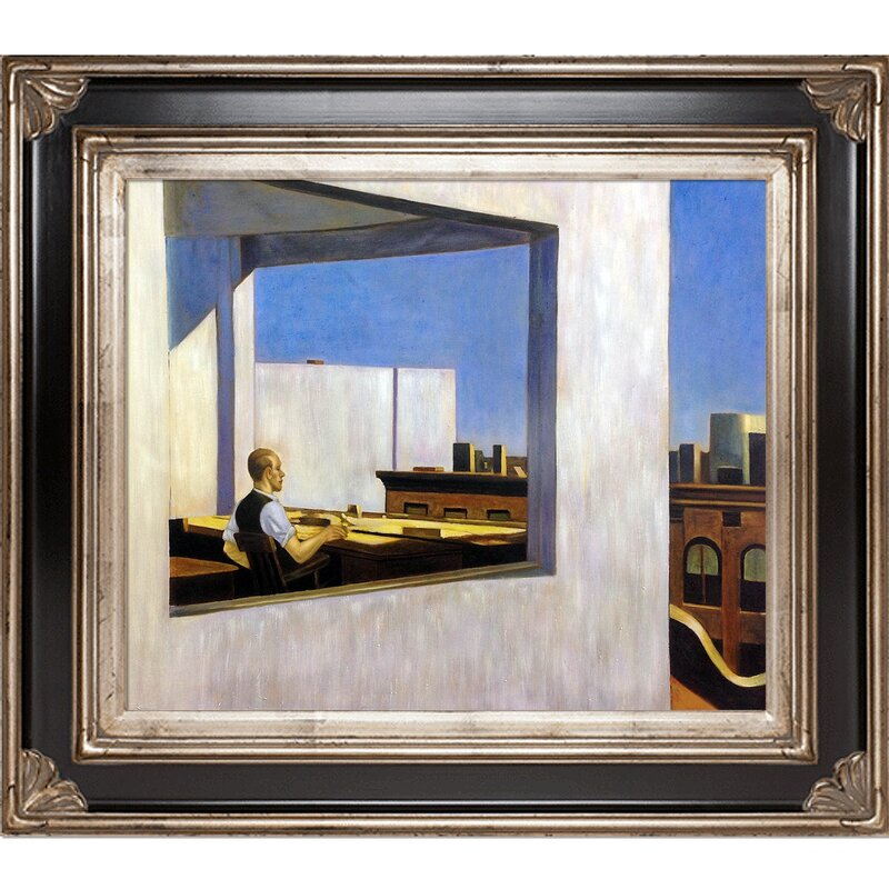 Office In A Small City 1953 By Edward Hopper Framed Painting Print