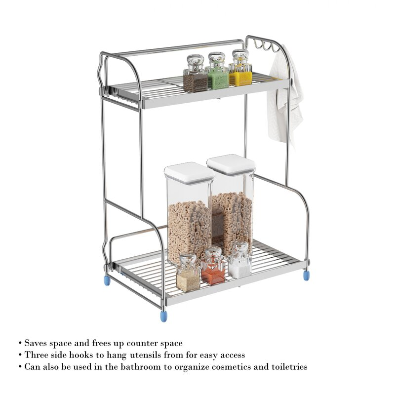 Fantastic Jeffries 16 H X 13 W Countertop Shelving Unit Interior Design Ideas Oxytryabchikinfo